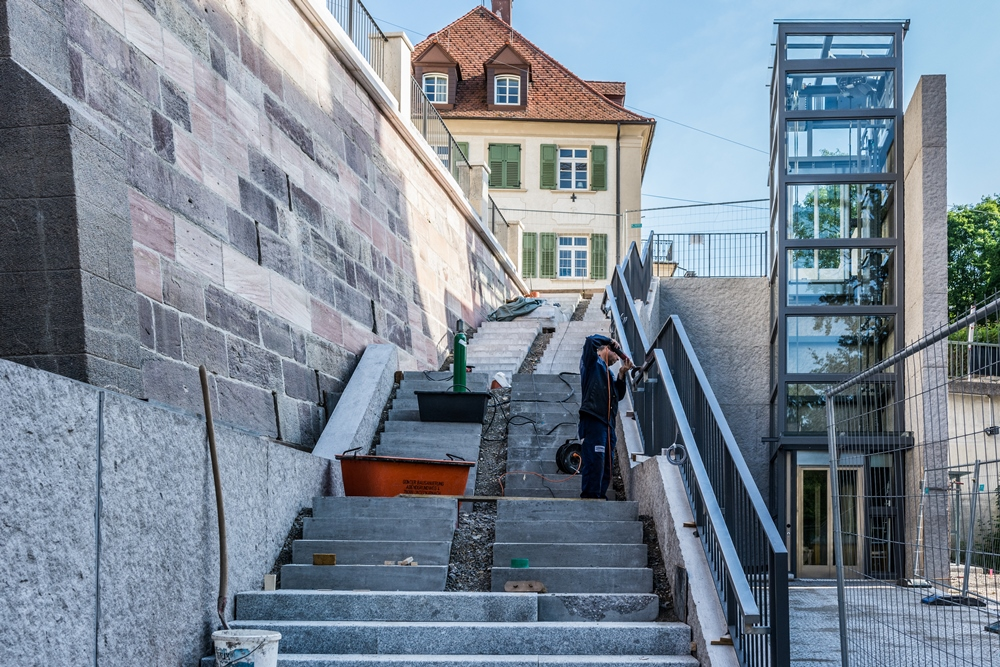 Baustelle_Treppe_Donauquelle, Foto: H. Bunse