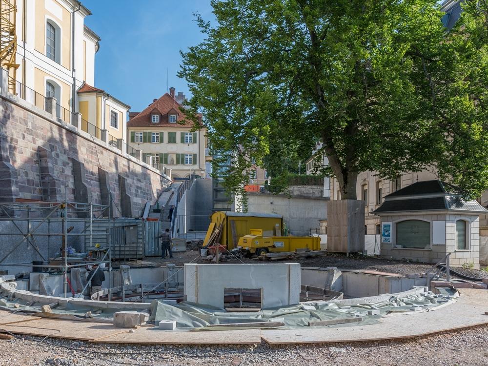 Baustelle_Donauquelle, Foto: H. Bunse