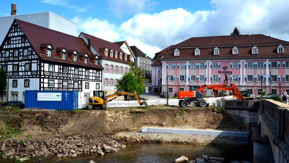 Baustelle_Brigachstufen, Foto: H. Bunse