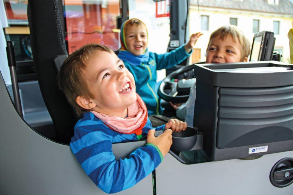 Auch die kleinsten Gäste hatten Spaß im Donaubus