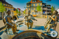 Musikantenbrunnen auf dem Rathausplatz, Copyright: Stadtverwaltung Donaueschingen, Foto: Tobias Raphael Ackermann