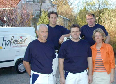 Malermeister Reinhold Hofmeier mit Team