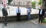 Oberbürgermeister Erik Pauly (v.l.), Thomas Knörr, Leiter des Polizeireviers Donaueschingen, Ordnungsamtsleiter Andreas Dereck und Bürgermeister Severin Graf haben die Kriminalstatistik für das Jahr 2020 vorgestellt.