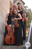Deutscher Kammermusikkurs 2019, Carolin Grün (Violine, Biebesheim), Bodam Lee (Violine, Marburg), Sophie Kiening (Viola, Lenggries), Clara Egelhuber (Violoncello, Freising)