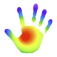 Wärmebild einer Hand