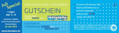 """Stadtbus Gutscheinaktion """"Juli Special"""""""
