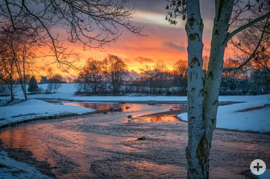 Donauursprung im Winter 2021, Foto: Heinz Bunse