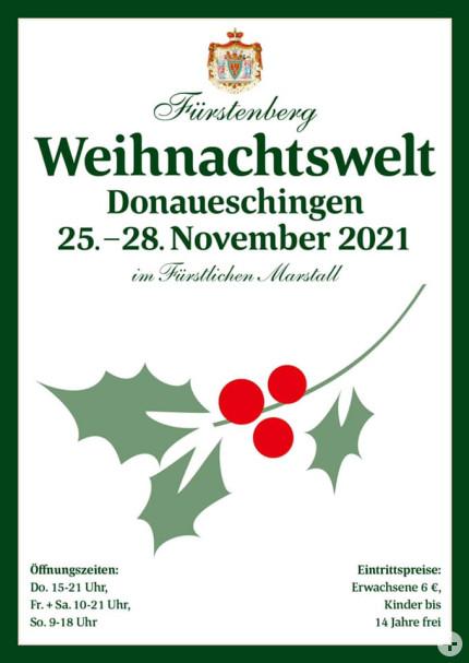 """Flyer """"Fürstenberg Weihnachtswelt"""""""